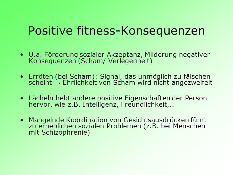Positive fitness-Konsequenzen