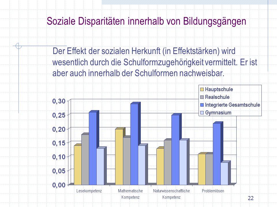 Soziale Disparitäten innerhalb von Bildungsgängen