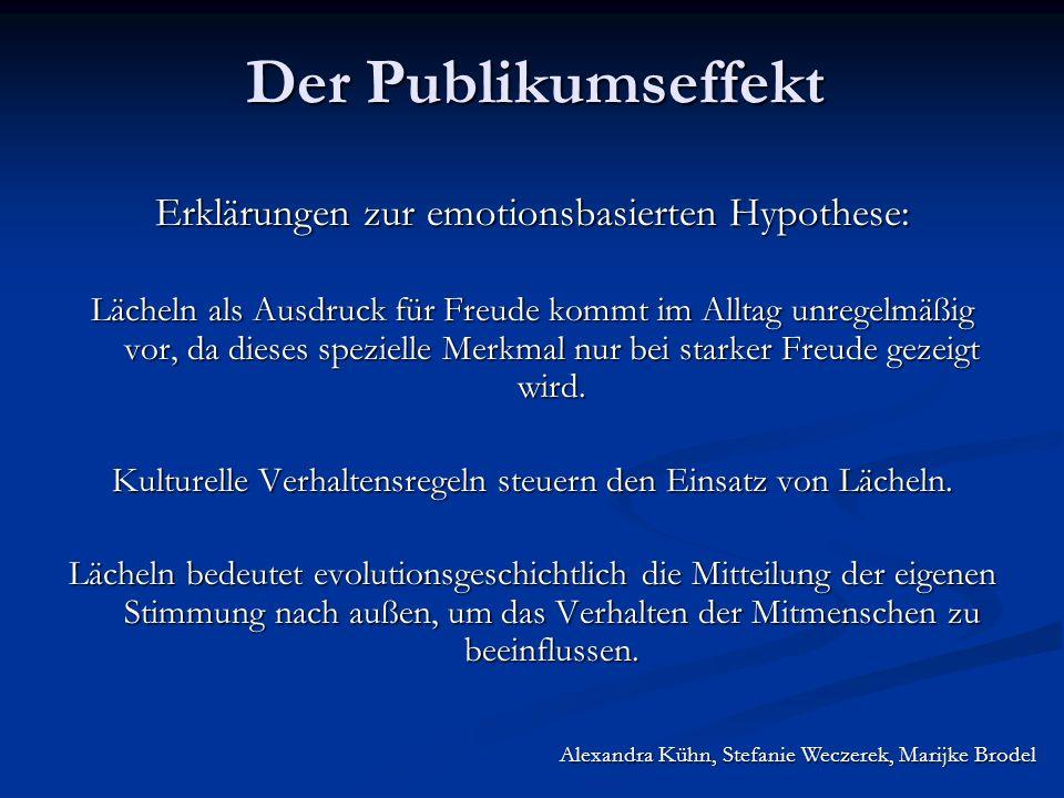 Erklärungen zur emotionsbasierten Hypothese: