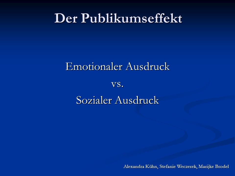 Emotionaler Ausdruck vs. Sozialer Ausdruck