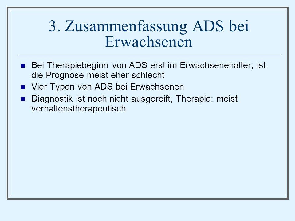 3. Zusammenfassung ADS bei Erwachsenen