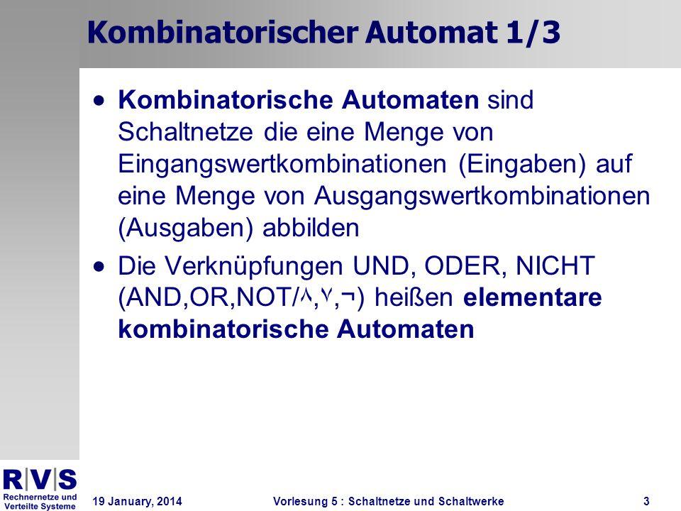Kombinatorischer Automat 1/3