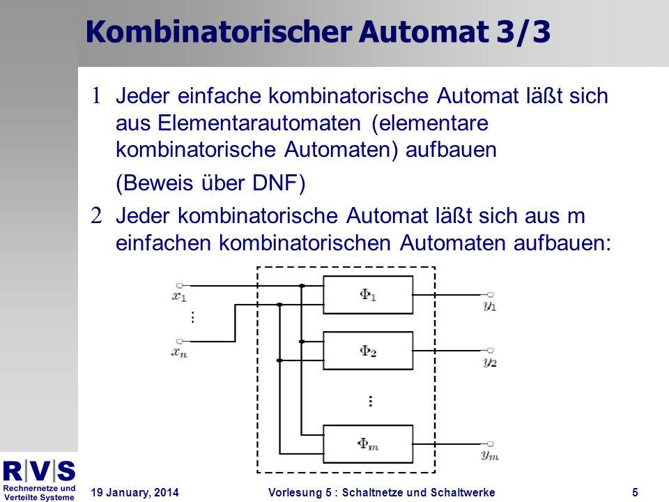 Kombinatorischer Automat 3/3