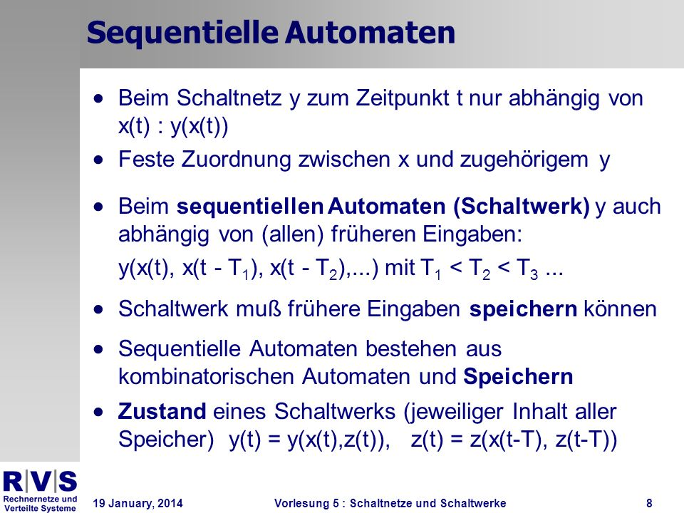 Sequentielle Automaten