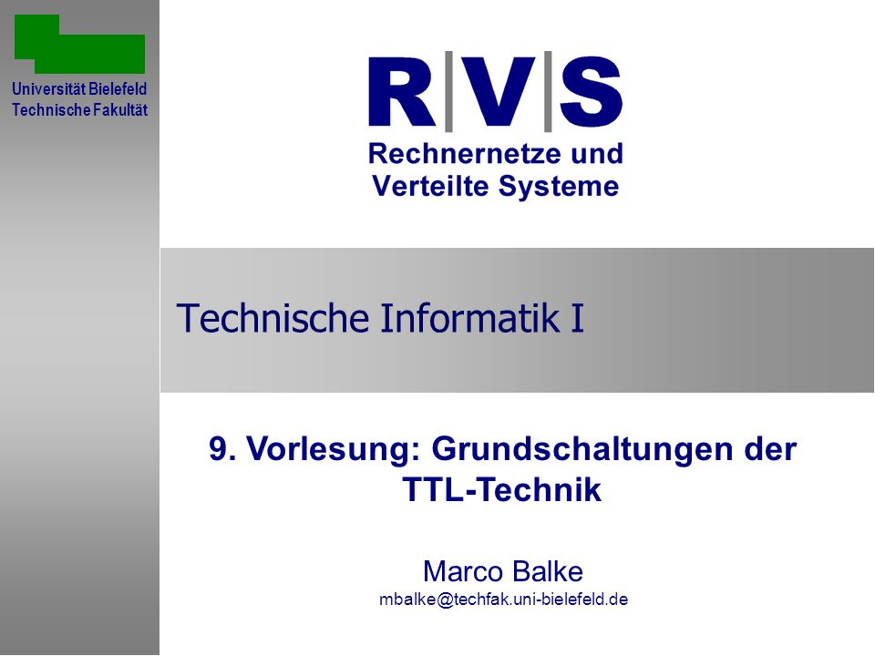 Technische Informatik I