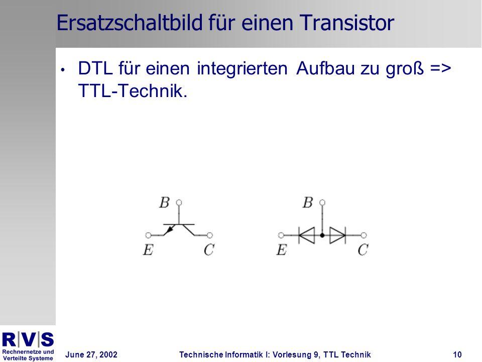 Ersatzschaltbild für einen Transistor