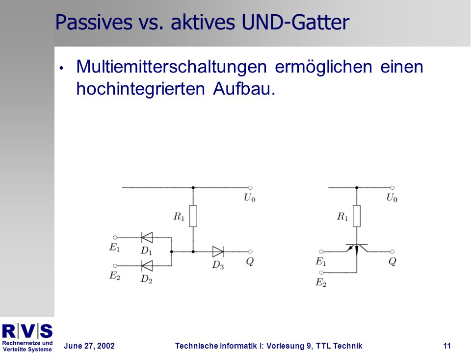 Passives vs. aktives UND-Gatter