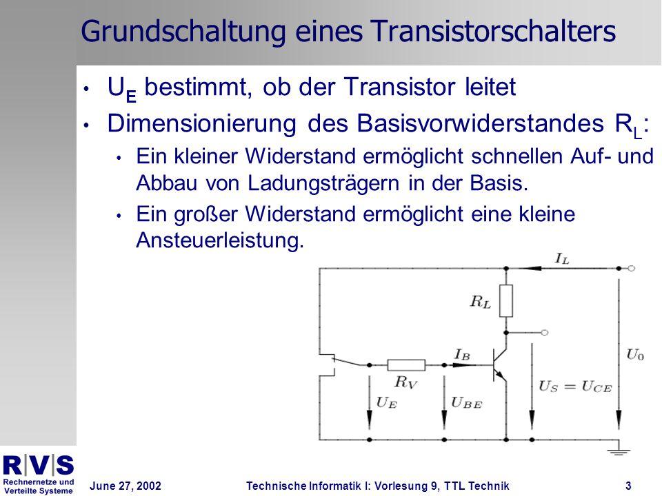 Grundschaltung eines Transistorschalters