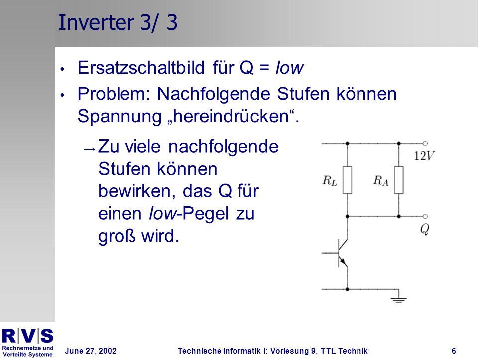 Inverter 3/ 3 Ersatzschaltbild für Q = low