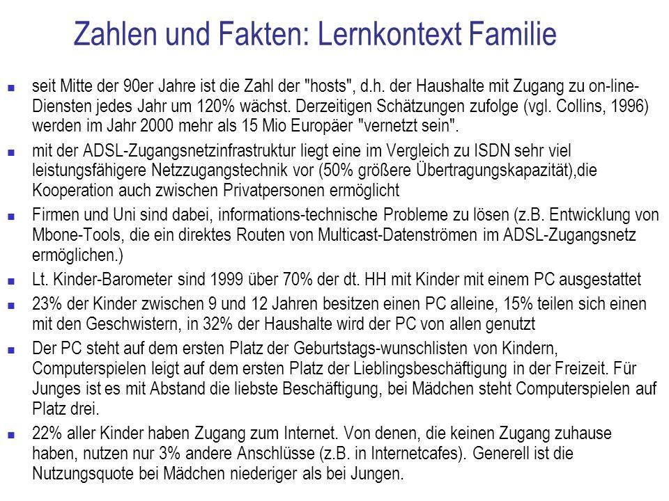 Zahlen und Fakten: Lernkontext Familie