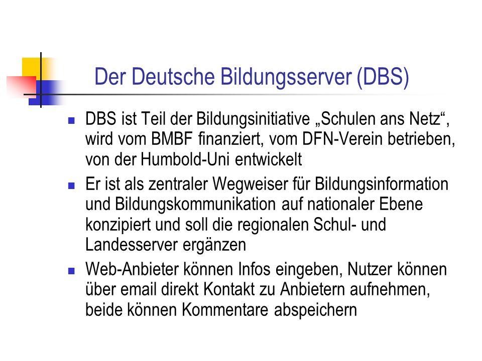 Der Deutsche Bildungsserver (DBS)