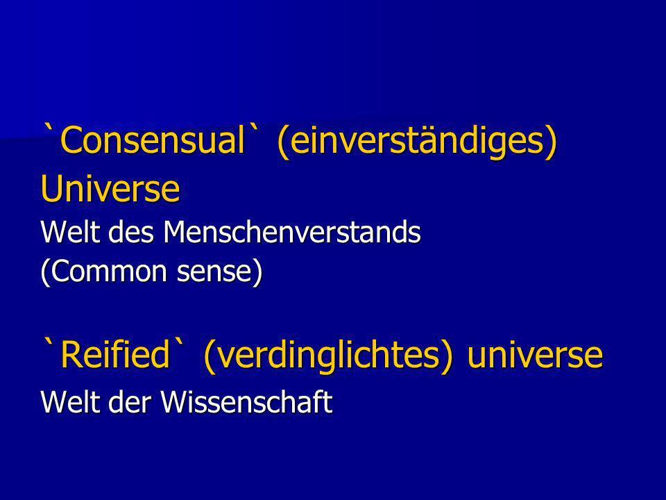 `Consensual` (einverständiges) Universe