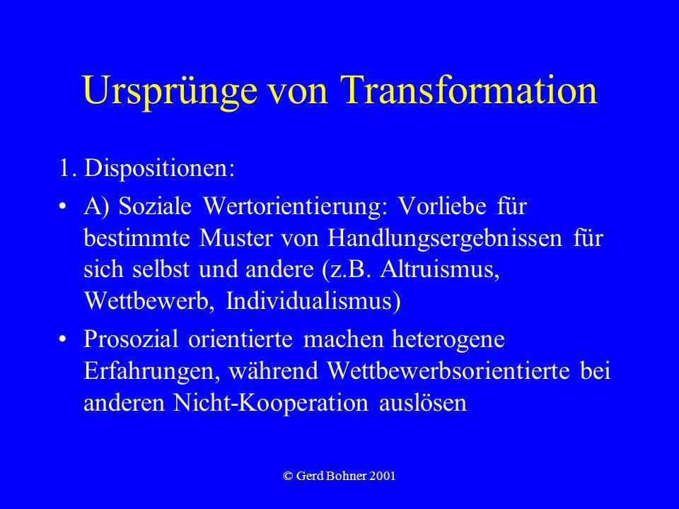 Ursprünge von Transformation