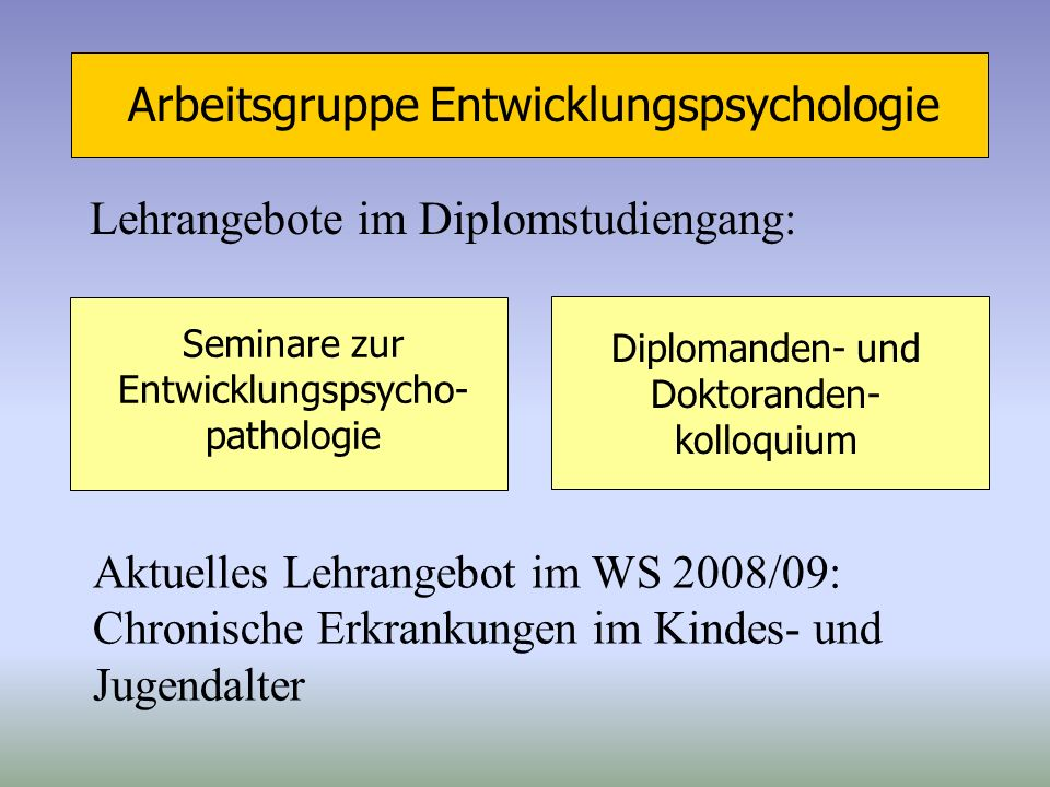 Arbeitsgruppe Entwicklungspsychologie