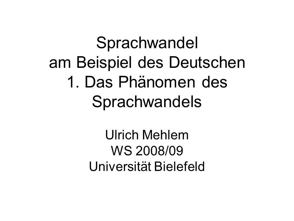 Ulrich Mehlem WS 2008/09 Universität Bielefeld