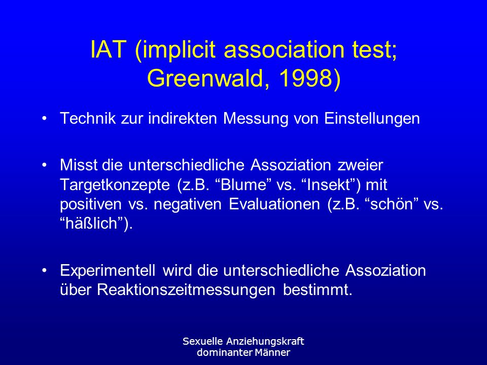 IAT (implicit association test; Greenwald, 1998)