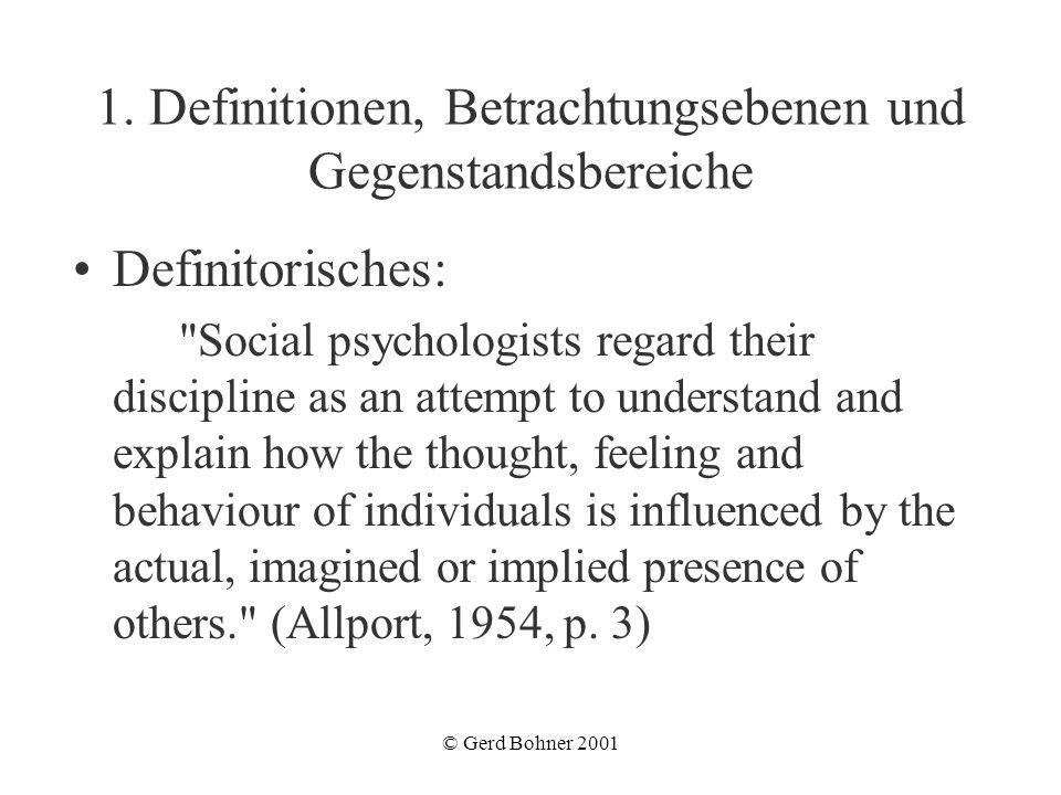 1. Definitionen, Betrachtungsebenen und Gegenstandsbereiche