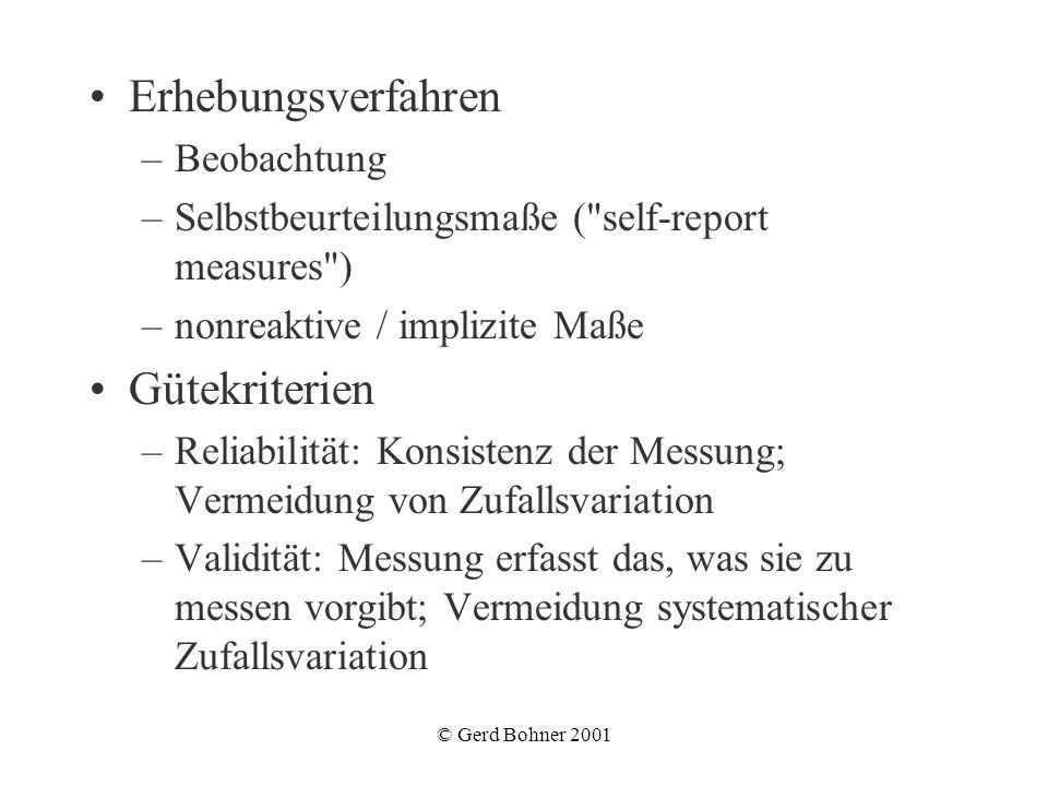 Erhebungsverfahren Gütekriterien Beobachtung