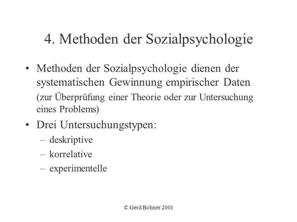 4. Methoden der Sozialpsychologie