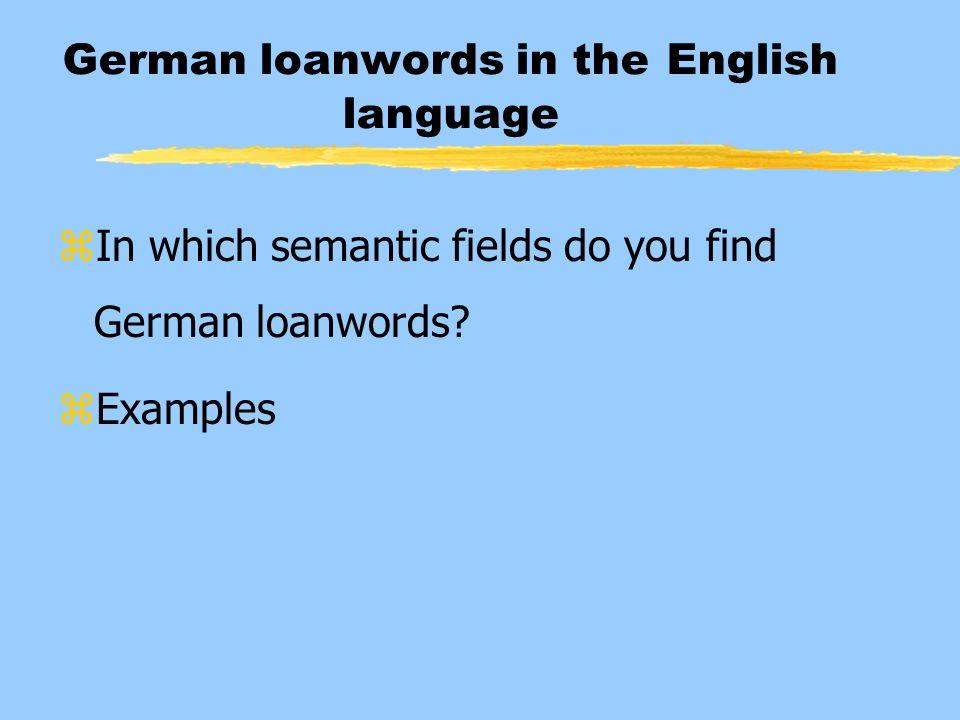 German loanwords in the English language
