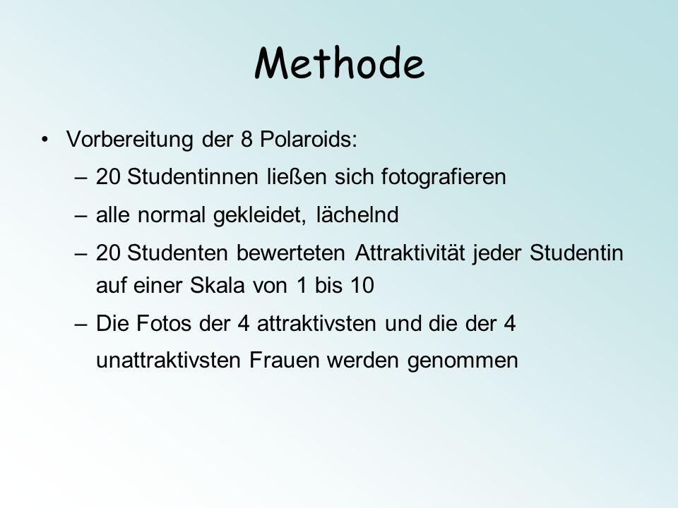 Methode Vorbereitung der 8 Polaroids: