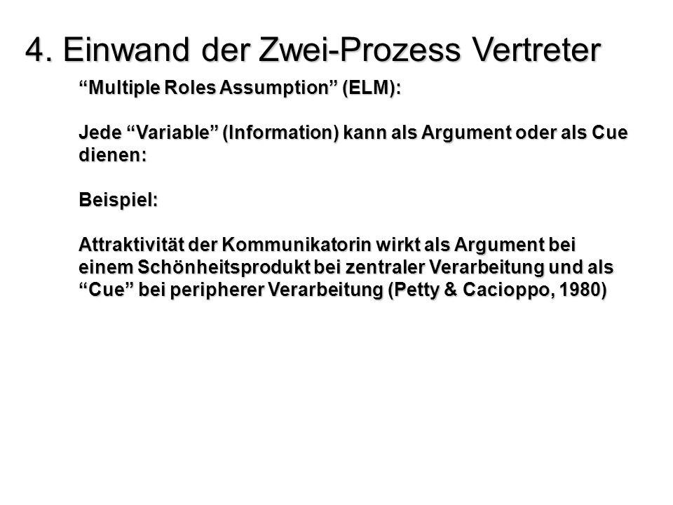 4. Einwand der Zwei-Prozess Vertreter