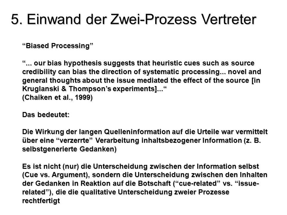 5. Einwand der Zwei-Prozess Vertreter