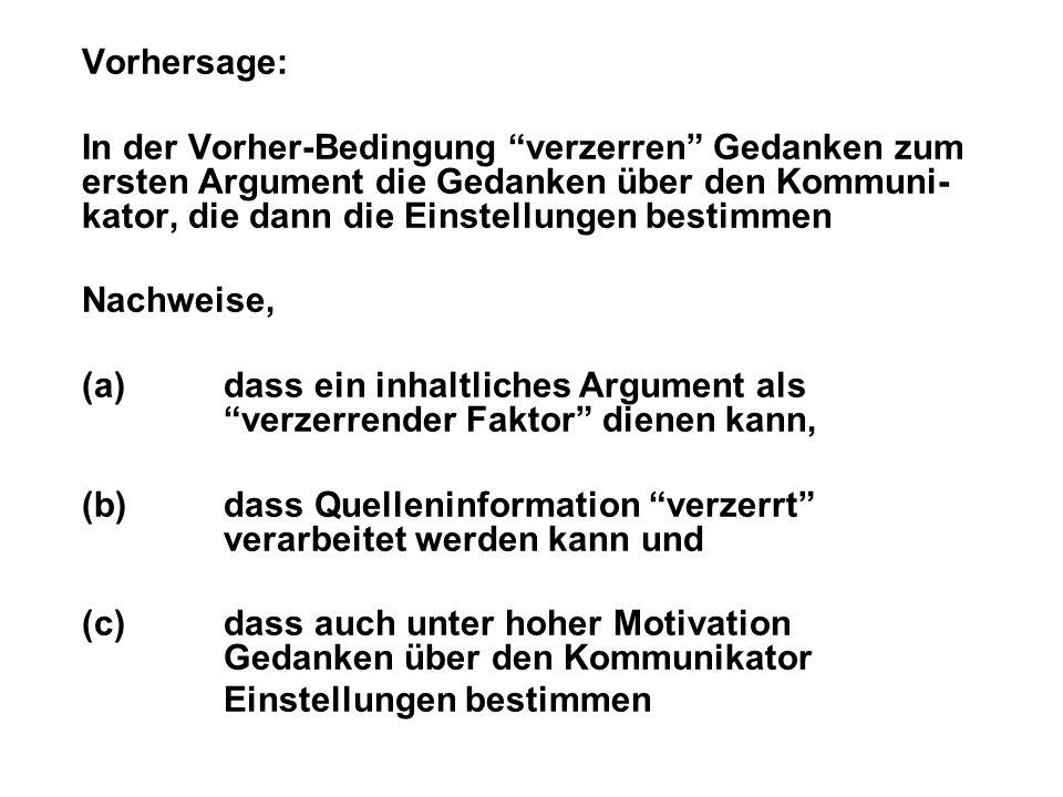 Vorhersage: