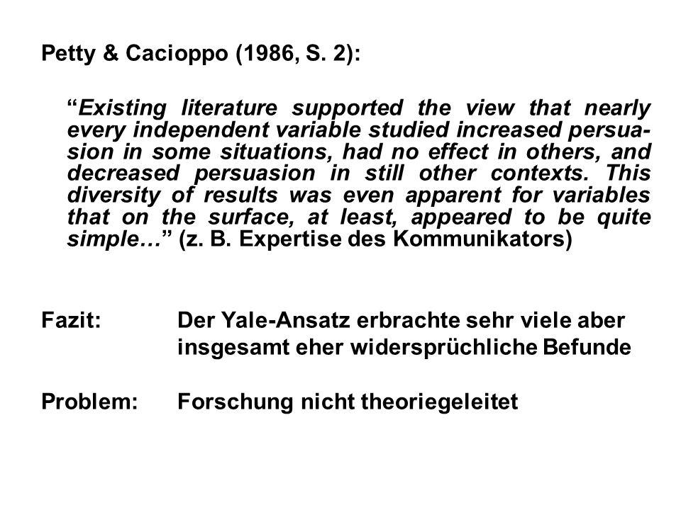 Petty & Cacioppo (1986, S. 2):