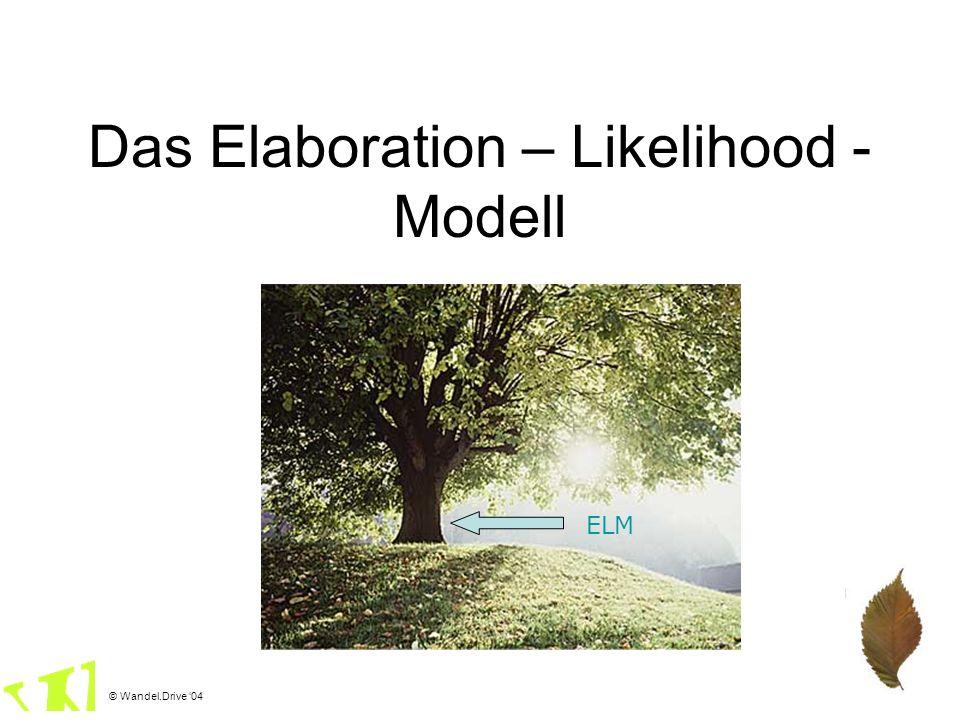 Das Elaboration – Likelihood - Modell