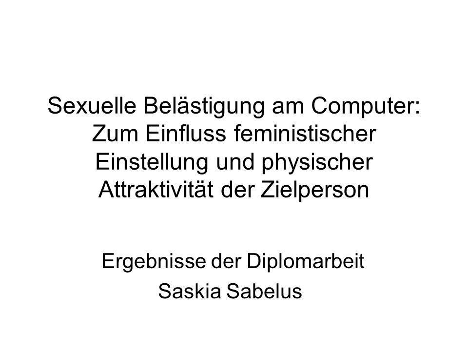 Ergebnisse der Diplomarbeit Saskia Sabelus
