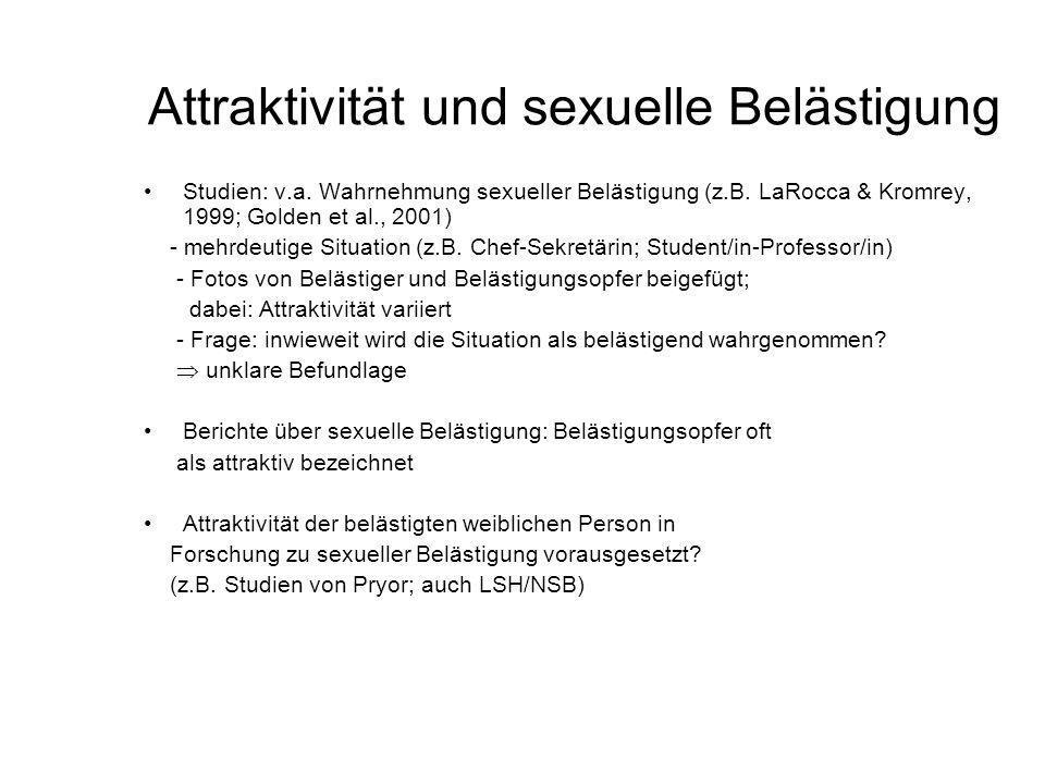 Attraktivität und sexuelle Belästigung