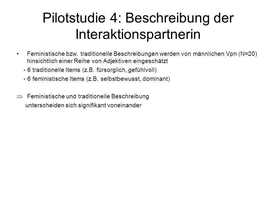 Pilotstudie 4: Beschreibung der Interaktionspartnerin