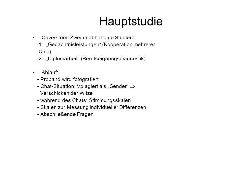 Hauptstudie Coverstory: Zwei unabhängige Studien: