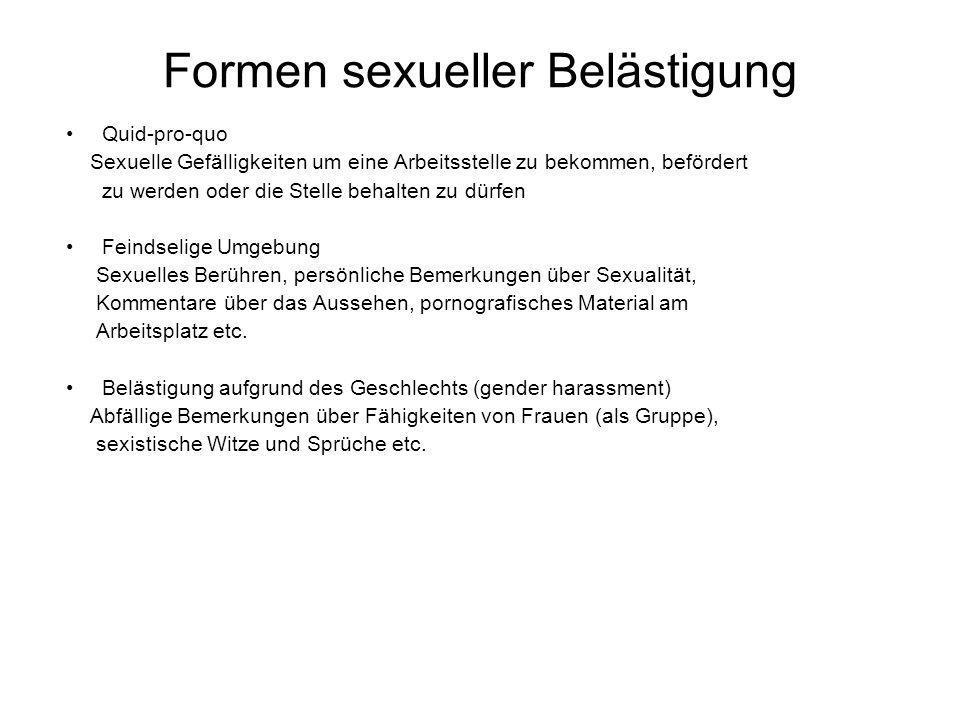 Formen sexueller Belästigung
