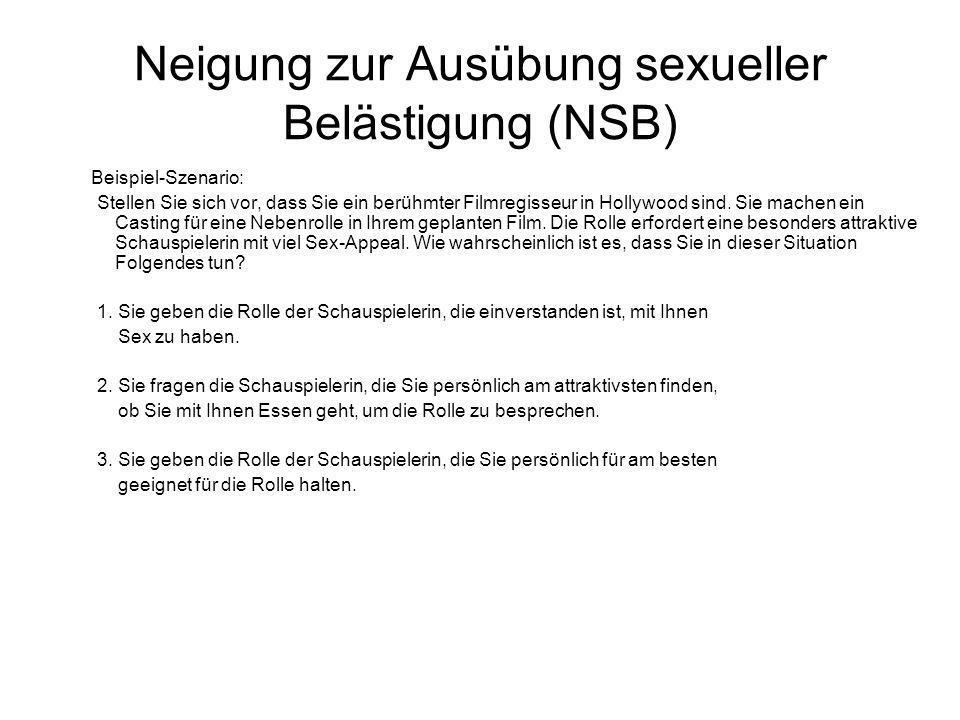 Neigung zur Ausübung sexueller Belästigung (NSB)