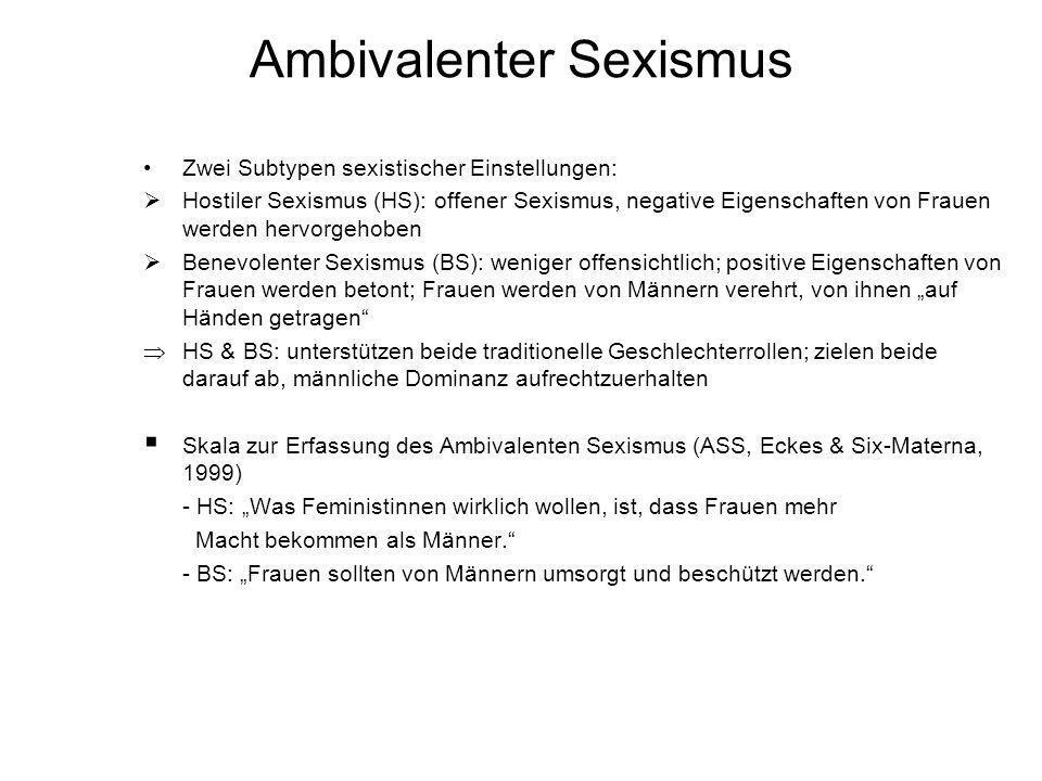 Ambivalenter Sexismus