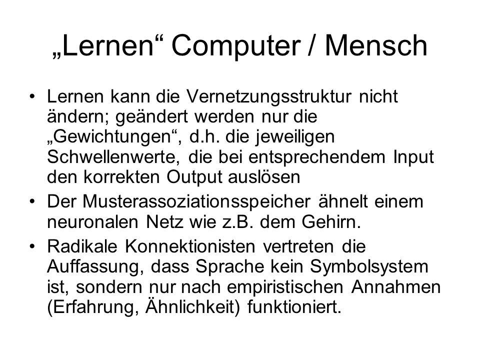 """""""Lernen Computer / Mensch"""