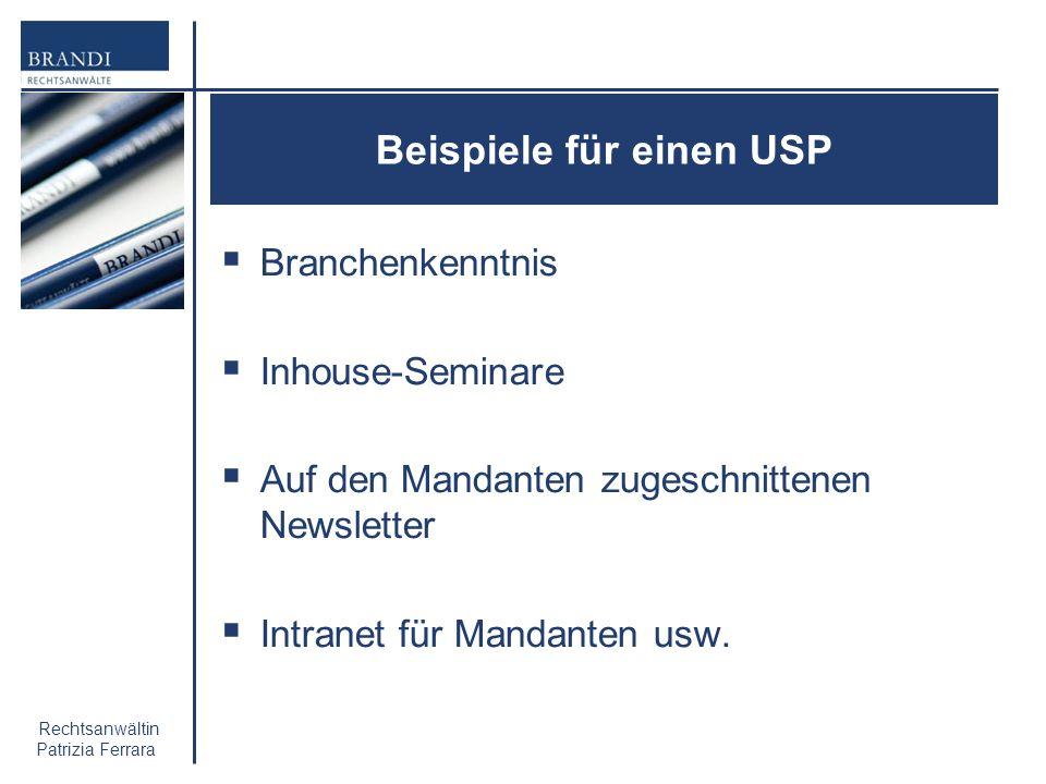 Beispiele für einen USP