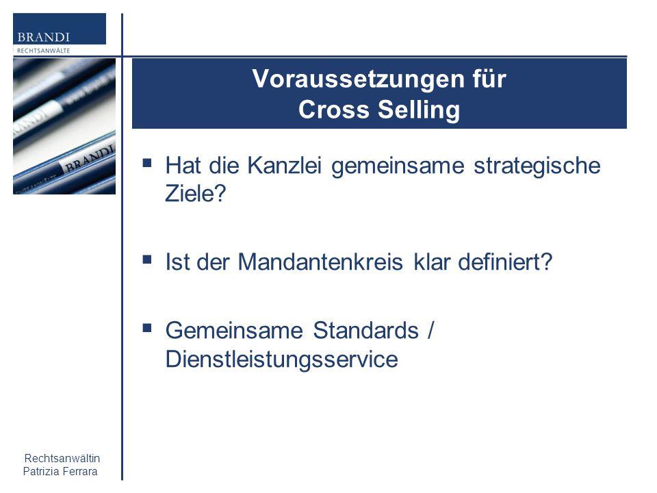 Voraussetzungen für Cross Selling