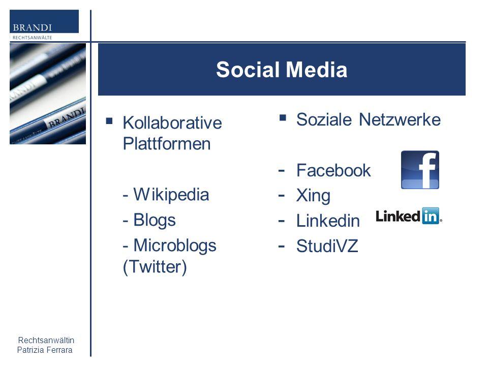 Social Media Soziale Netzwerke Kollaborative Plattformen Facebook