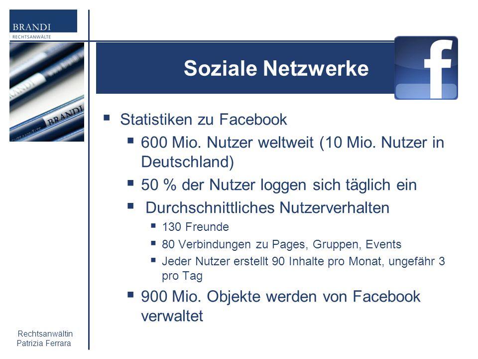 Soziale Netzwerke Statistiken zu Facebook