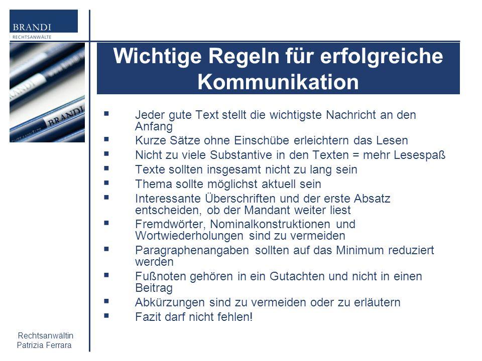 Wichtige Regeln für erfolgreiche Kommunikation