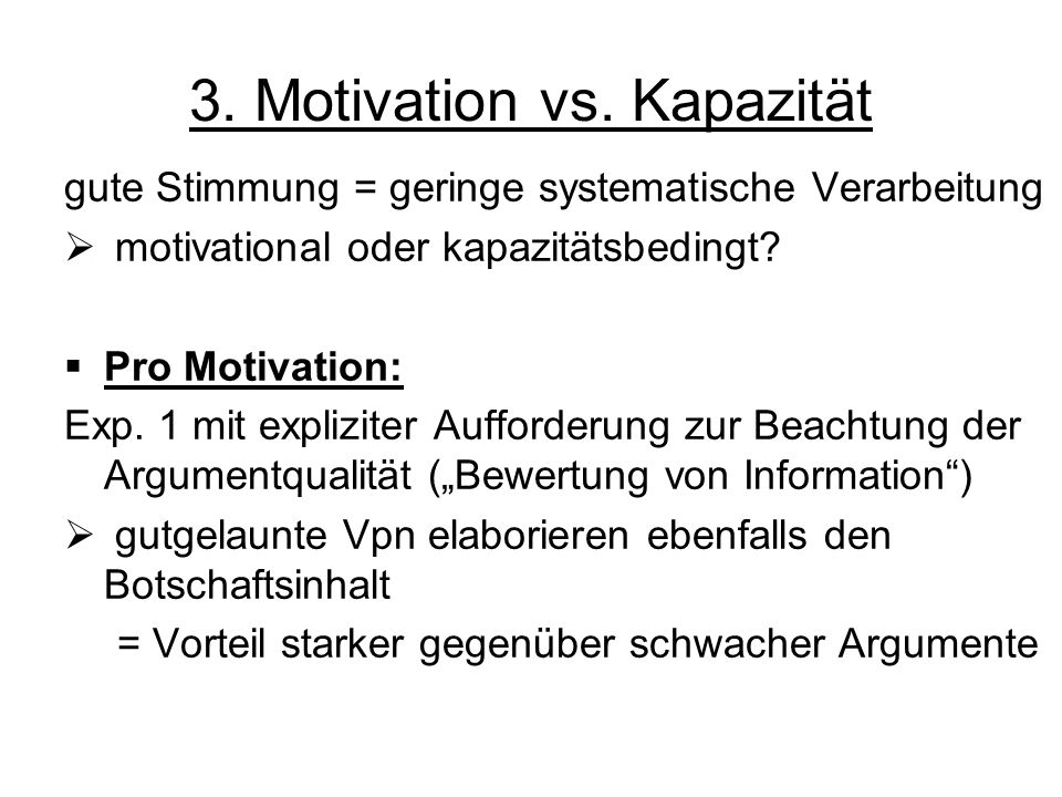 3. Motivation vs. Kapazität