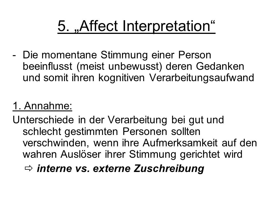 "5. ""Affect Interpretation"