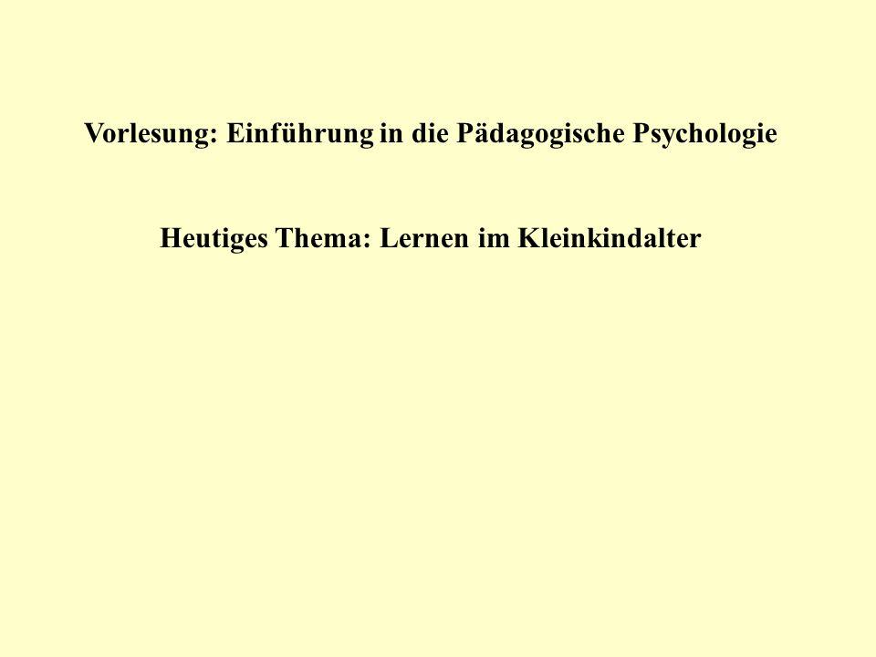 Vorlesung: Einführung in die Pädagogische Psychologie