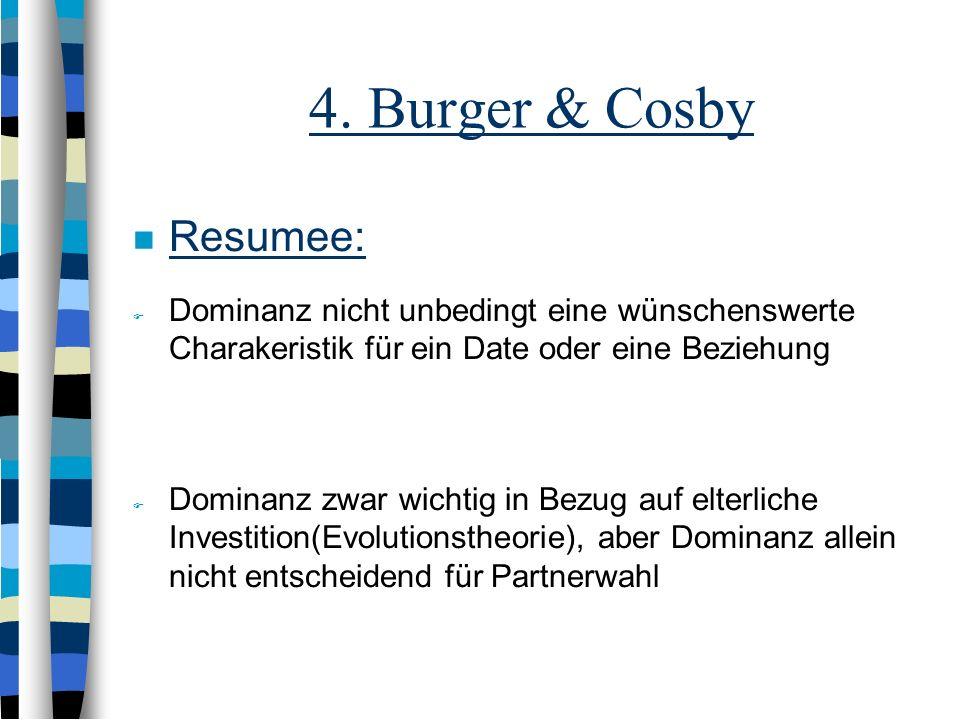4. Burger & Cosby Resumee: