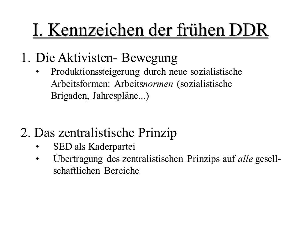I. Kennzeichen der frühen DDR