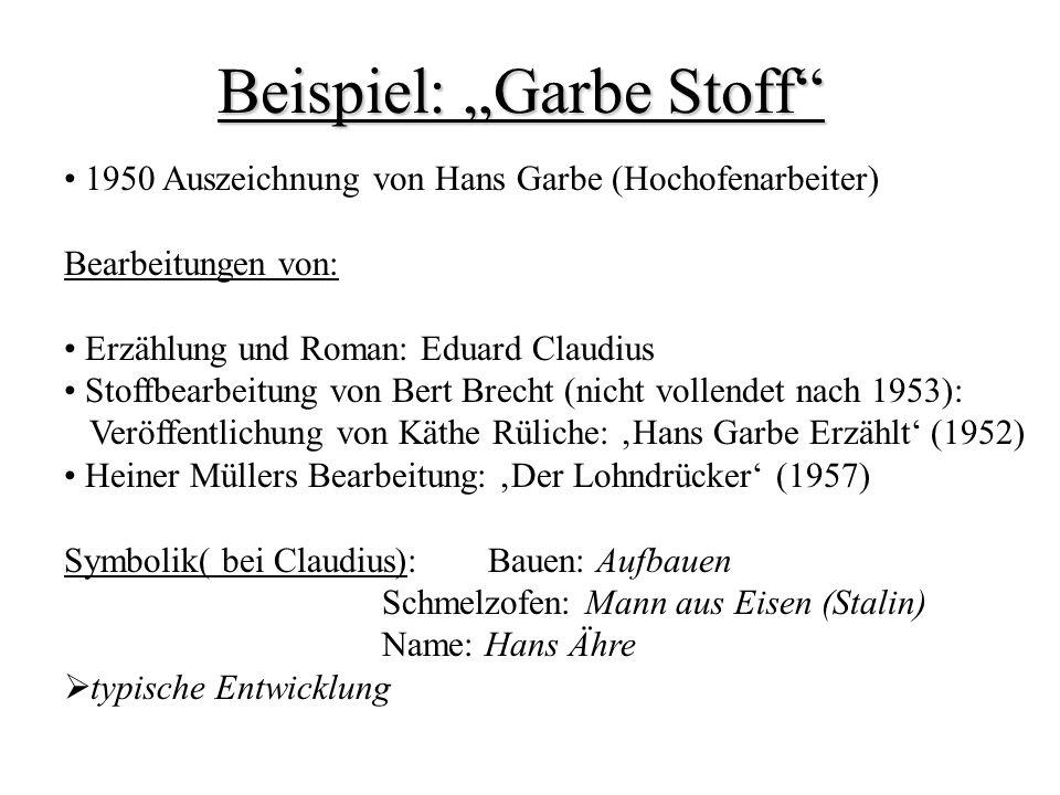 """Beispiel: """"Garbe Stoff"""