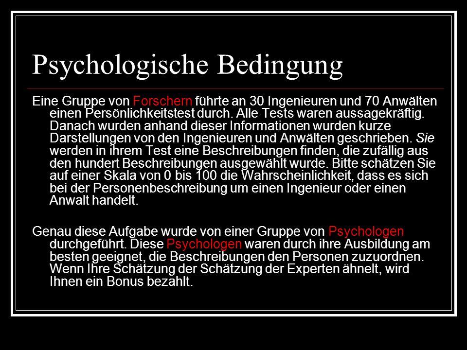 Psychologische Bedingung